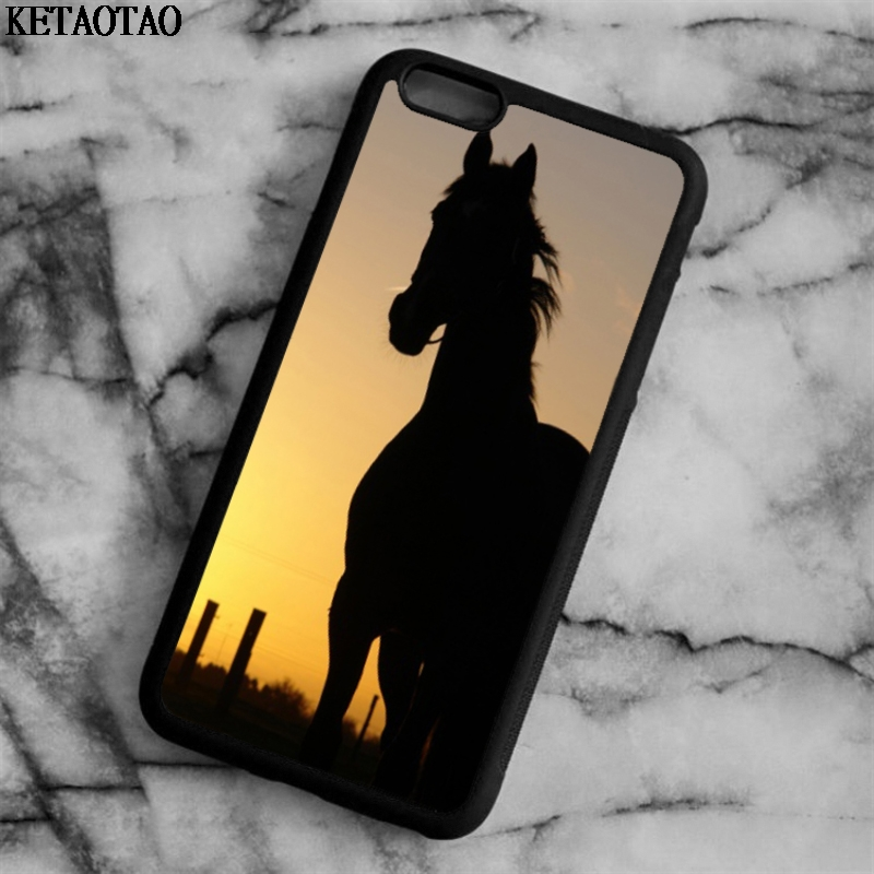 KETAOTAO Horse in Sunset Phone Cases for iPhone 4S 5C 5S 6 6S 7 8 Plus X for Samsung S5 6 7 8 NOTE Case Soft TPU Rubber Silicone