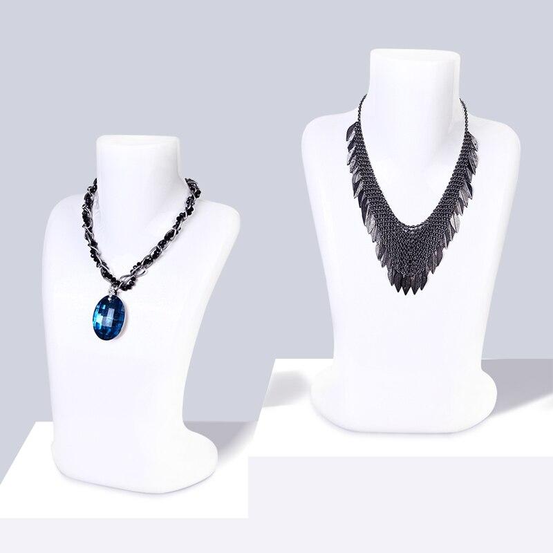 D26 perla černá bílá Luxusní zboží Šperky figuríny Womeupper-tělo náhrdelníky Přívěsek model famale manekýn okna Zobrazit