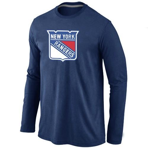 NHL New York Rangers Big & Tall Logo D.BLUE Long Sleeve T-Shirt