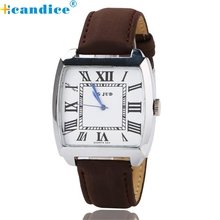 Reloj 2017 New Bestselling Ladies's Roman Numeral Dial withLeather Bands Watch Present Set Dropshipping 17feb9