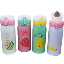 цена на 350ML/500ML Fruit Pattern Bouncing Cover Mug Stainless Steel Vacuum Lock Insulation Cup Creative Cute Cup Hand Cup