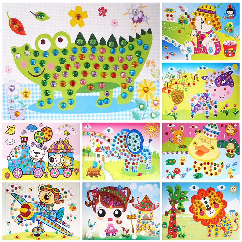 Princess Castle  Craft Time Kids Foam Mosaic Art For Children