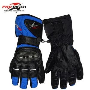 Image 4 - Guantes para motocicleta Pro Biker, resistentes al agua, de cuero, cálidos para invierno, para Motocross