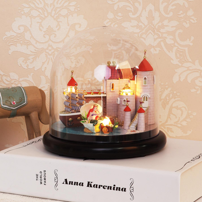 Miniature DIY Doll House With Furnitures 3D Wooden DollHouse Handmade Toys Birthday Gifts Toys For Children B013 #E