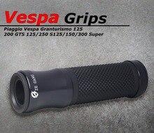 1 par Acessórios Da Motocicleta Guiador Grips Anti Skid de Borracha Para Piaggio Vespa GTS 300 Super LX LXV Sprint 125