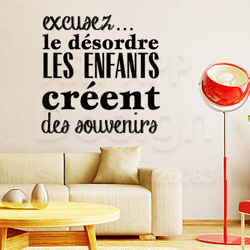 Arte diseño barato vinilo decoración del hogar francés buena memoria niños etiqu