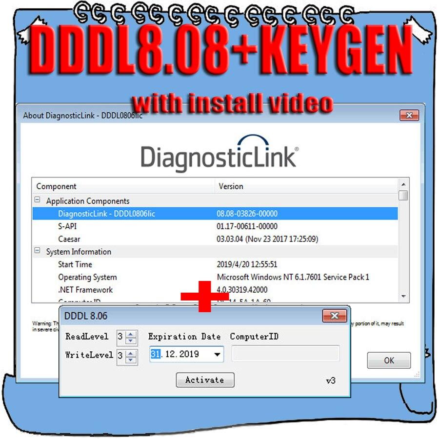 2019 Hot Sell Detroit Diesel Diagnostic Link V8 08 DDDL 8 08 Keygen Active Troubleshooting Data