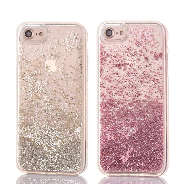 iphone 7 phone cases glitter rose gold