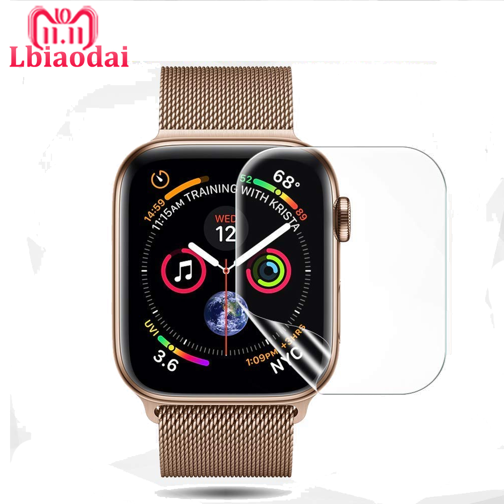 9D Full Coverage Protective Film For iwatch Apple Watch Series 4 44mm 40mm Anti-Shock TPU Screen Protector Cover (Not Glass)9D Full Coverage Protective Film For iwatch Apple Watch Series 4 44mm 40mm Anti-Shock TPU Screen Protector Cover (Not Glass)