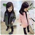 2016 New Winter Coat Children Girl Wear Kids Girls Cashmere Warm Long Overcoat Jacket Clothes