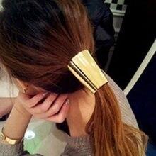 Резинка для волос манжета хвоста эластичный металлический держатель
