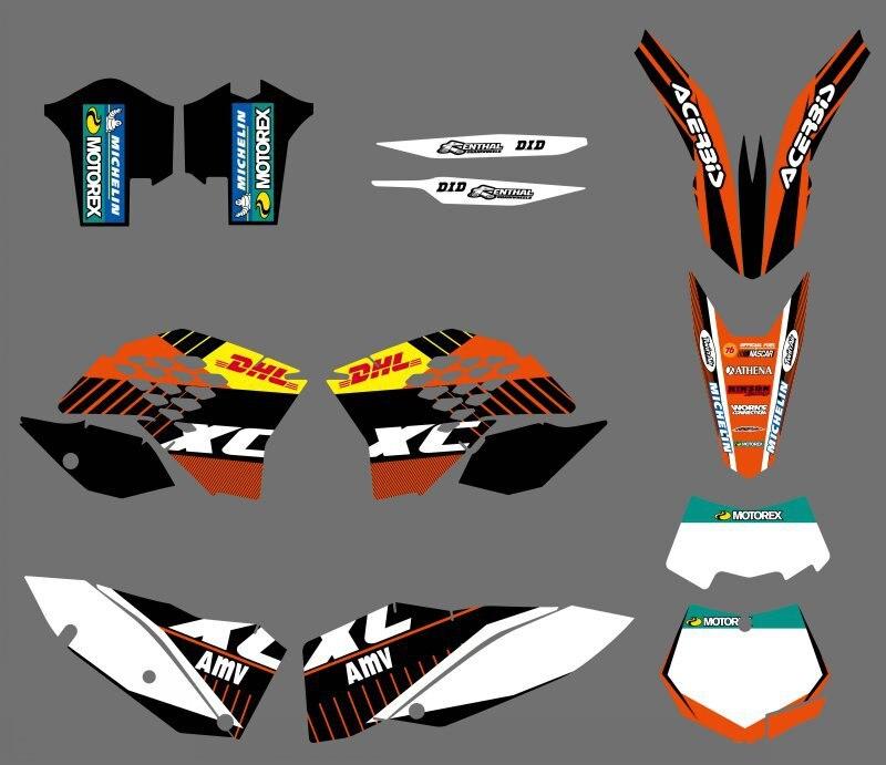 Motorcycle Team Sticker Graphic Decals DECO For KTM SX SXF XC XCW EXC SMR XCRW 125