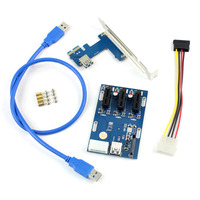 Wellcore Manufacturer For Pcie To 2 Pci Slot Adapter PCI E To Dual PCI Riser Adapter