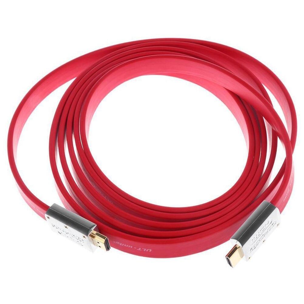 HFES新しいULT-unite赤高速HDMIケーブルは4K Ultra HD 3D 1080pイーサネット28AWGイーサネットケーブルをサポート