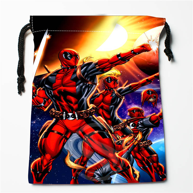 V#bC75 New Deadpool Custom Printed  Receive Bag Compression Type Drawstring Bags Size 18X22cm 7=12JvC75