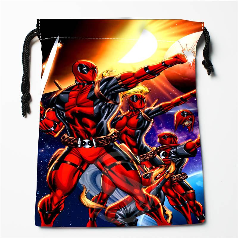 V#bC75 New Deadpool Custom Printed  Receive Bag Compression Type Drawstring Bags Size 18X22cm 7=12JvC75