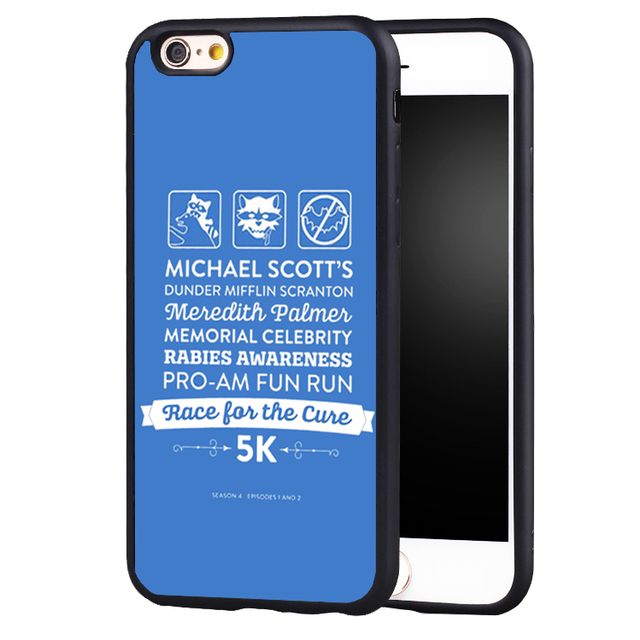 new style 9710f 1b077 US $4.99 |Michael Scott Rabies Awareness Fun Run Office case cover for  iphone 7 7plus 6 6splus 5 5s 5c SE-in Fitted Cases from Cellphones & ...