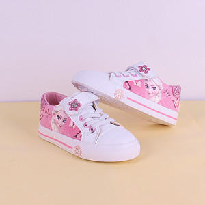 Image 2 - frozen girls pink  Casual Shoes  Disney elsa and Anna princess  pu soft sports shoes Europe size 25 36