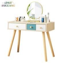 Спальня комоды деревянный туалетный столик с ящиком косметический Органайзер шкаф для хранения Модный компьютерный стол мебель для спальни