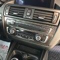 Стайлинг автомобиля наклейки 1 серия Аксессуары для BMW F20 F21 углеродное волокно интерьер автомобиля кондиционер CD панель управления накладк...