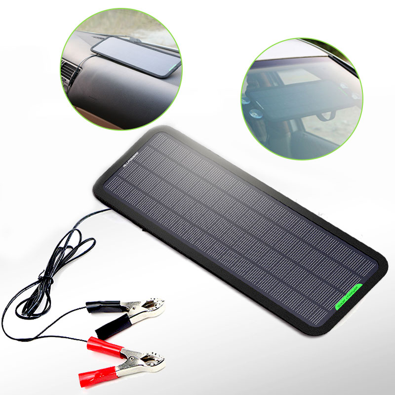 Chargeur de réparation automatique de batterie de voiture solaire Portable 5 w panneaux solaires imperméables