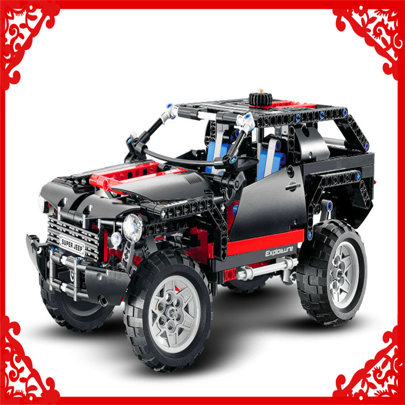 KAZI 3341 Technic City Series Cruiser SUV Car Building Block 589Pcs DIY Educational Gift Toys For Children Compatible Legoe les enfants pj racing mission cruiser car dessin maskmm toy anime pj car big truck display jouet children bithday gift toys