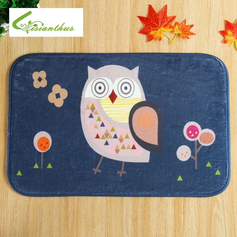 2017 New Sale Black Owl Carpet And Rug Bed Front Mat Kitchen Floor  Decoration Rug Anti