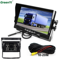 GreenYi Iron Bracket Waterproof 12V 24V HD CCD Truck Backup Rear View Camera System 7 TFT