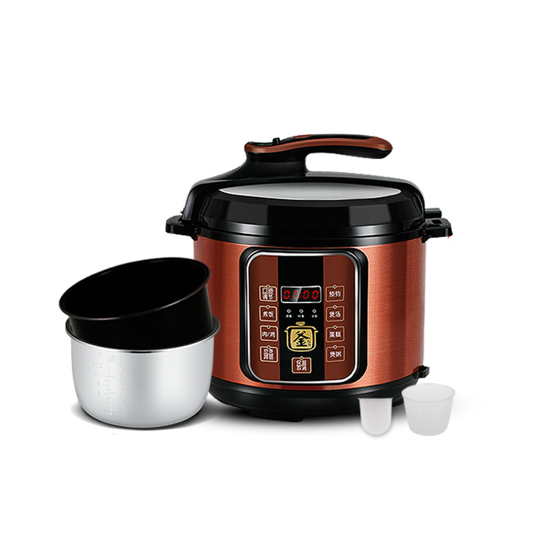Electric Pressure Cookers Intelligent rice cooker pressure cooker 5-6 electric pressure cooker household. 5L for kenwood pressure cooker 6l multivarka electric cooker 220v 1000w smokehouse teflon coating electric rice cooker crockpots