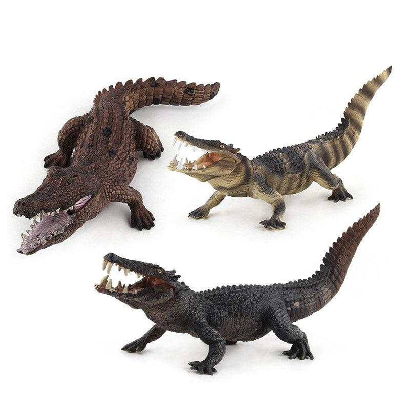 Simulation Crocodiles Wild Animal Model. Toys Animal Models Imitation Ornament