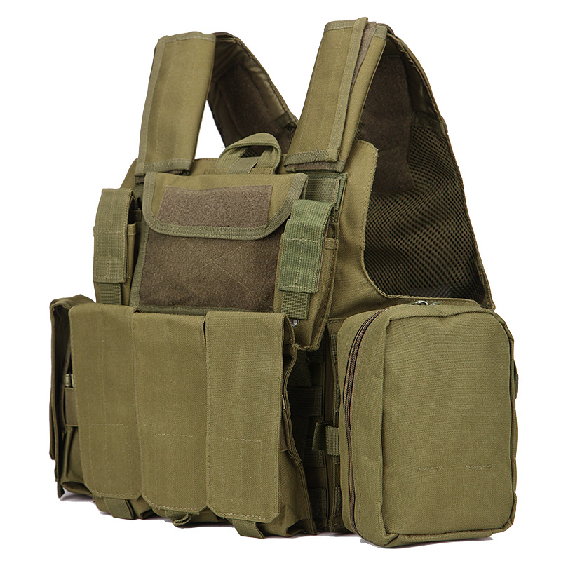 Military Hunting Vest Amphibious Battle Combat Airsoft Molle Assault Plate Carrier Vest Releasable Strike Vests With Mag Pouches