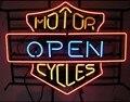 Изготовленный На Заказ двигатель открытые циклы стеклянная неоновая световая вывеска пивной бар