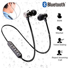 Magnetic Bluetooth Earphone With Mic Sprot Wireless Headphones HiFi Headset 4.2 With Charging Cable Young Earphones for iPhone magnetic music bluetooth 4 2 earphone sport running wireless bluetooth headset with charging cable young earphones