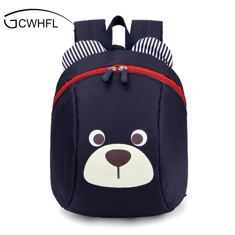 Age 1-4 Toddler Backpack Anti-lost Kids Baby Bag Cute Animal Dog Children Backpacks Kindergarten School Bag Mochila Escolar