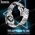 Original hoco grand serie slim-fit correa de metal 3 punteros para apple watch iwatch 38mm 42mm de acero inoxidable 2.3mm