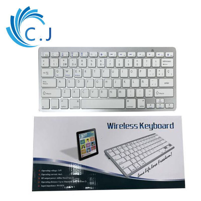 Portable Wireless Bluetooth mini Keyboard Support English Russian Spanish for Apple iPad Series Macbook Desktop Laptop