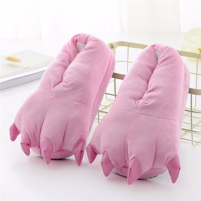 Slippers For Kids Adults Women Men Girl Boy Animal Paw Cartoon Unicorn Dinosaur Stitch Winter Onesie Pajama Shoes
