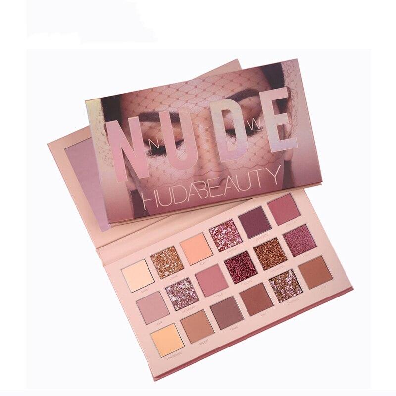 HuDa Beauty New NUDE Eye Rose Shadow Palette 18 Colours Europe Box Makeup Sombra Maquillaje Eyeshadow