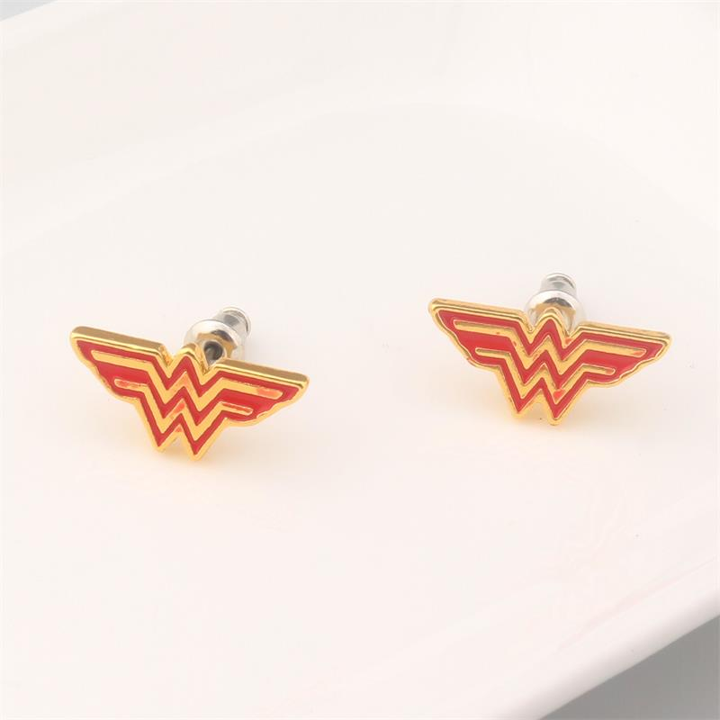 Movie Superhero DC Comics Wonder Woman Torque The Winner Acronym W Earrings pendant jewelry