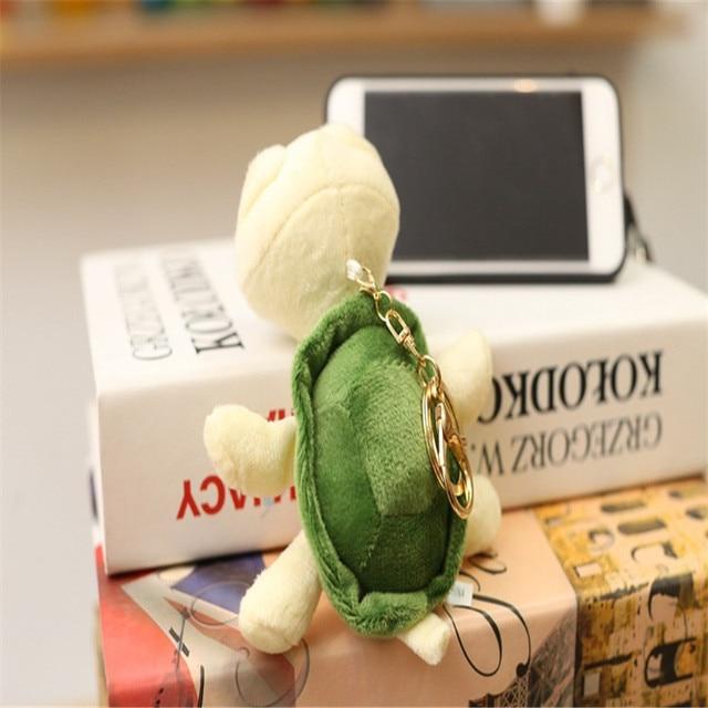Mini Pequena tartaruga Chaveiros Chaveiros tartaruga Fur Pompom Fofo Falso RabbitBaby Bugigangas Carro Bolsa Pingente KeyChian Anel Titular