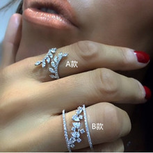 New Pear-shaped Ring Ladies Explosions Wedding Engagement Silver Jewelry Size 6-10 for Women Girls High Quality high quality pear shaped quartz separating funnel laboratory equipment