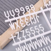 Купить с кэшбэком 4Pcs/Set Characters For Felt Letter Board Numbers For Changeable Letter Board
