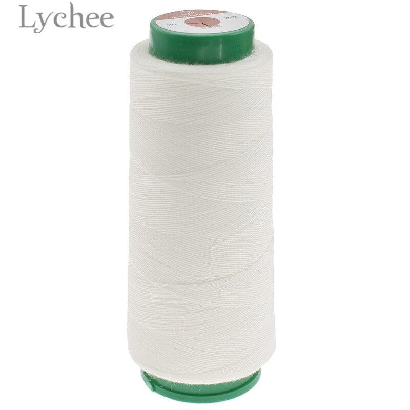 Lychee 1000 m hilo de coser Soluble en agua hilo blanco crudo DIY suministros de costura Accesorios