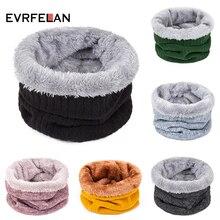 Evrfelan, Новое поступление, осенне-зимний шарф-кольцо для женщин и мужчин, однотонный шарф на шею, унисекс, толстые теплые шарфы для мальчиков и девочек, 24*22 см