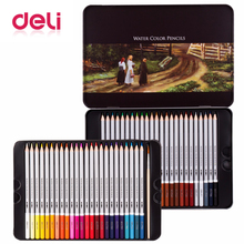 Deli 48 colour pencil Set Professional Pencils for Drawing  Painting Sketch Tin Box Art School artist Supplies