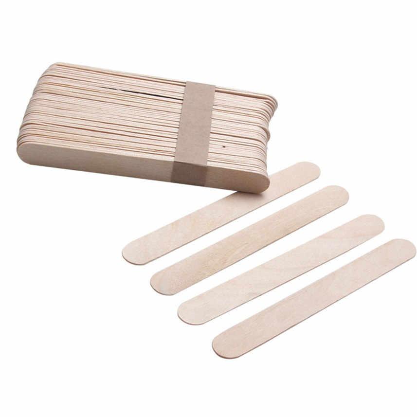 2018 20 ADET Kaldırma Ahşap Vücut Epilasyon Çubukları Balmumu Ağda Tek Kullanımlık Çubuklar Plaj Bikini Epilasyon balmumu şerit