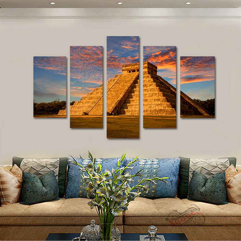 Unframed Canvas Painting Dusk Boulders Altar Photo Picture Prints Wall Picture For Living Room Wall Art Decoration