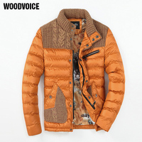 Woodvoice 2017 Brand Winter Warm Jacket Men Solid Jacket Casual Motorcycle Thick Coat Male Cotton Padded