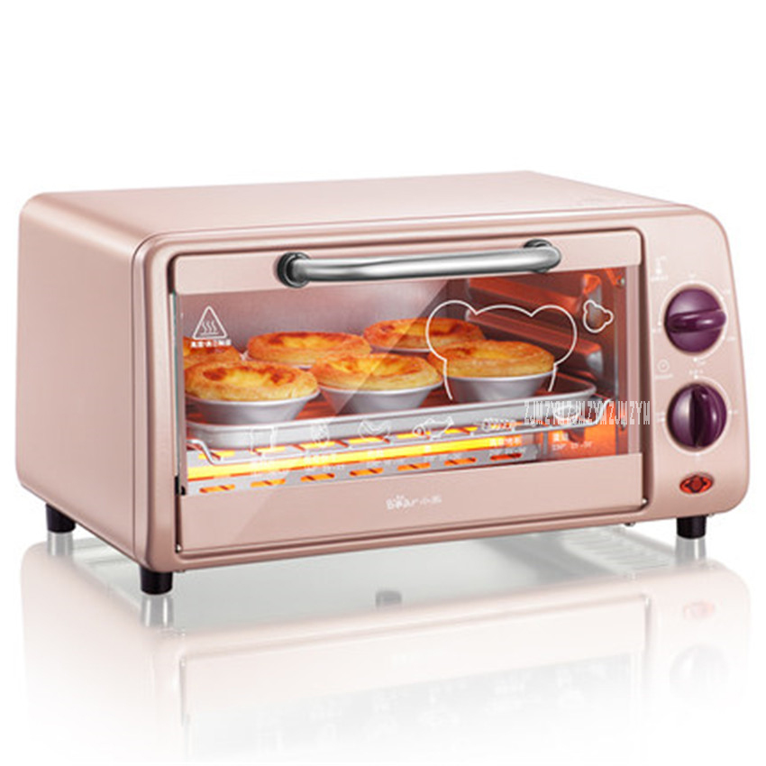 DKX-A09A1 High Quality 9L Capacity Electric Appliance Pizza Oven Convection Smokehouse Mini Multifunction Oven 800W Power pink 1 1 9l