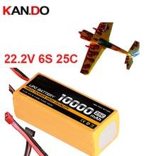 6s 25c 22.2v 10000mah airplane model battery 10000mah aeromodeling battery model aircraft li-poly battery 25C airplane battery